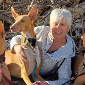 Christine and her dogs 1